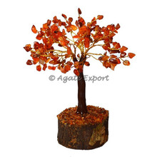 Carnelian Trunk 300 chips Tree - Wooden craft tree