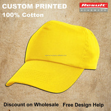 cheap custom printed cotton summer promotional sports caps
