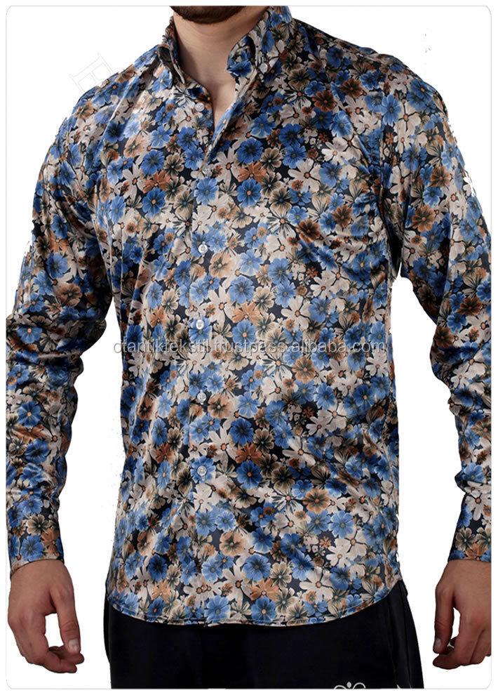 Floral white dress shirt slim fit shirt slim fit shirt for Collarless white shirt slim fit