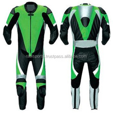 kawasakied dashing design Leather Suit, Motorbike Good quality with cheep rates suits