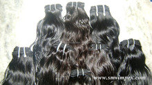 100% unprocessed indian virgin remy shedding free human hair extension.No compromise hair quality only virgin hair weaving