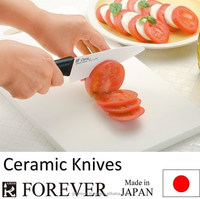 Japanese knife manufacturer forever sharp knives in ceramic, professional and home use, santoku, paring, chef, made in Japan