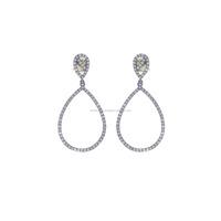 14K Yellow Gold Earrings Pave Diamond Earrings Jewelry Deaigner Dangle Drop Earrings Diamond Jewelry Manufacturer