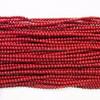 2-2.5mm Round Coral Dark Red Semi Precious Stone Beads
