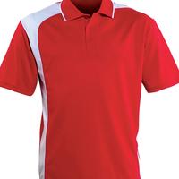 100% Egyptian Cotton Custom your Logo Polo Shirt Bulk Men's Thick Red Polo t shirt with Black Collar OEM