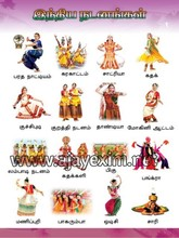 Indian Dance in Tamil Education Poster