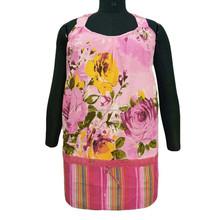 Halter Neck Pink Top Tunic Floral Print Summer Women Wear Short Kurti Size XXXL
