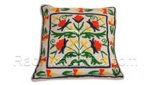 RTHCC-91 Rajasthani Beautyful Indian Suzani Handmade Square Shape Cushion Pillow Covers