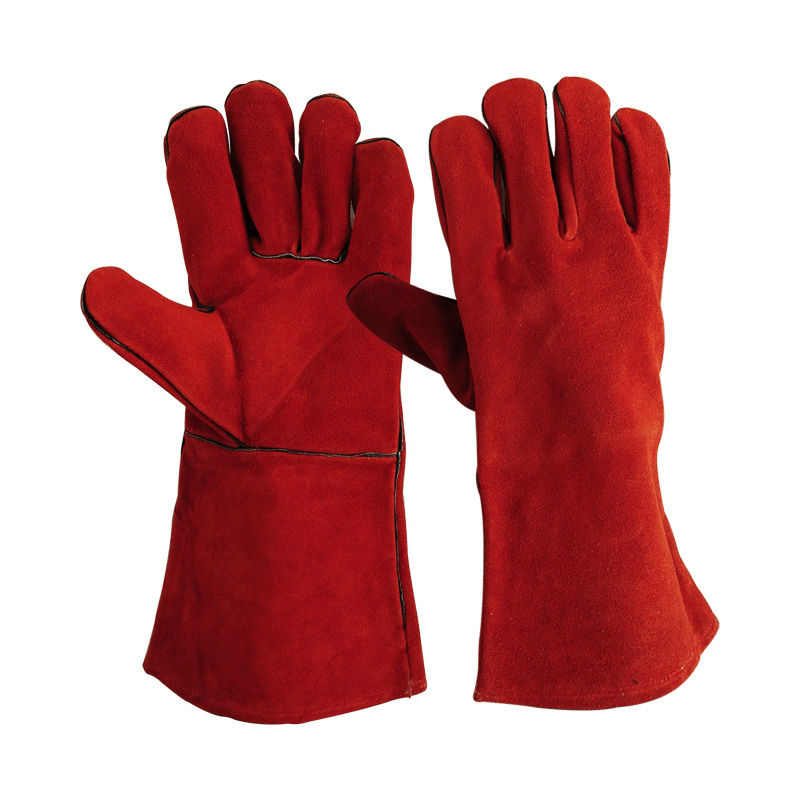 Red Welding Gloves / Welding Gloves 14 Inches / Premium ...
