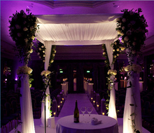 Pipe and Drape Fashion carved wooden wedding mandap
