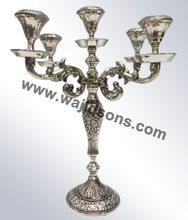 Table Top Nickel Plated Candelabra By Wajidsons Corporation