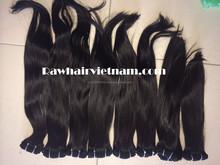 Single drawn weft straight hair/ Single drawn virgin remy bulk hair high quality Vietnamese hair