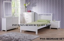 BEDROOM SET,5 DRAWER DRESSER,MIRROR,NIGHT STAND,SINGLE BED,WOODEN FURNITURE