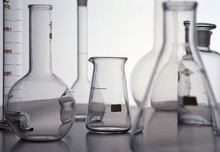 Assorted laboratory glass