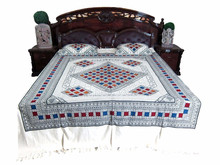 india good quality cotton thread bedspread all size bedsheet new design