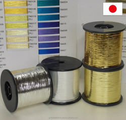 Reliable & High bright enhancement round-covered yarn PS-SILVER FLAT YARN at reasonable prices, film roll order available