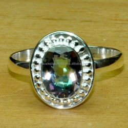 Mystic, 925 Sterling Silver Ring, Beautiful Design Fancy Ring Natural Ring ER4007