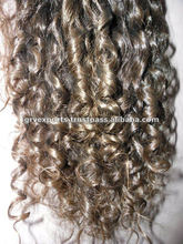 kinky curly machine weft virgin indian human hair