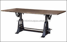 INDUSTRIAL Crank Dining TABLE, INDUSTRIAL Dining TABLE, RECLAIMED Dining TABLE