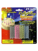 Relighting birthday candles