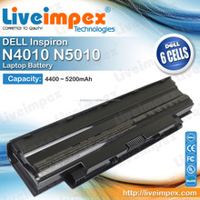 High Quality LIVE IMPEX 6 Cells Laptop Replacement Battery for Dell Inspiron N5010 N4010 Laptops