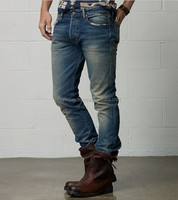 New pattern new style washed vintage denim jeans for men