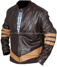 X-Men Wolverine Logans XO Original Real Leather Jacket Available Colours RED, BROWN,