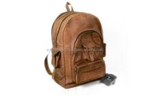 Vintage Genuine Leather Hot Selling Unisex Backpacks Men Bags Travels Leather Bag