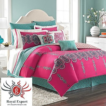 indian luxury hotel bed/five star hotel bedding/2 and 3 star luxery bedding set