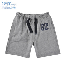 Fashion Summer Design Cotton 2 Color Stretch Waist Sport Shorts bor Baby Boys