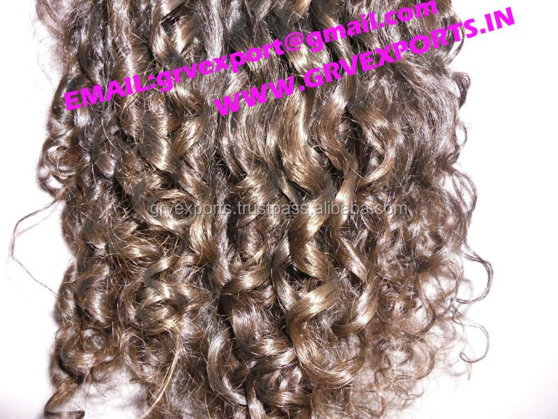 signature curly human hair from indian supplier