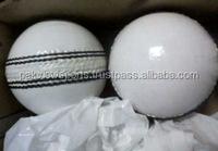 Professional White Leather Cricket Balls