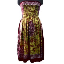 Indian Tie Dye Party Wear Dress Long Off Shoulder Women Dress Sexy Tunic Cotton Dress