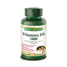 Nature's Bounty Vitamin D3 / 1000 Dietary Supplement 100 Tablets 57g