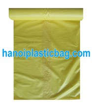 yellow garbage bag on roll without printing-cheap price