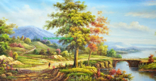 Tree landscape oil painting on canvas china