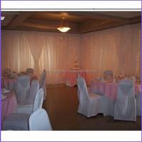 China wholesale pipe and drape white background wedding hall decoration
