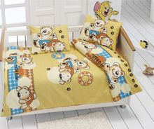 Baby Bedsheet & Duvet Set 100% cotton equisite designs - 4 pcs