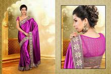 Vintage Sari Vintage Fabric Women Wrap Printed Maroon Sari Craft Silk Blend Saree Satin Fabric Saree