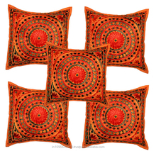 *INDIAN STYLE* Glorious Throw Pillow Mirror work Cushion Covers