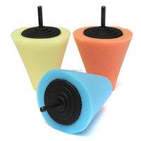 2015 Polishing Foam Sponge Cone Metal Pad Car Wheel Hub Care Polish Buffing Tool Kit