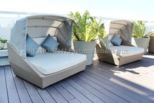 rattan lounge chair with canopy