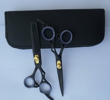 "professional hairdressing hair scissors shears 5.5"" THINNER SET Titanium Line"