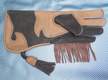 "Childrens Long Cuff Falconry Glove double skinned/New Falconry Glove 1 Layer Suede Leather 12 "" Long/ Falconry Gloves"