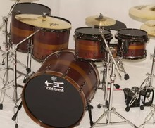 TreeHouse Custom Drums 6-piece Purpleheart/Osage Orange Solid Shell Drumset Natural