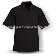 camisa de polo negro