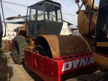used road roller Dynapac CA30D compactor with water coolant engine, vibratory single drum compactor