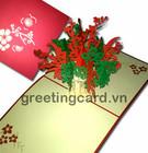 Flor cartões pop-up cartão