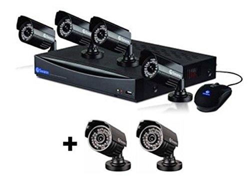 SWANN CCTV DVR8-1260 8 CHANNEL 1 TB HD gravador de vídeo DIGITAL DVR e 6x PRO-535 câmeras de bala 650TVL INDOOR / OUTDOOR IP67