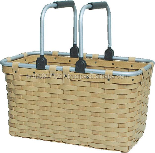 Picnic Basket Jakarta : Rectangular picnic basket with handles